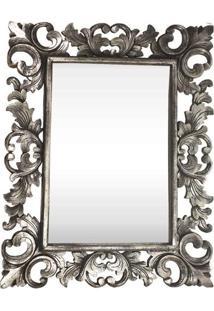Espelho C/ Moldura Arabesco Em Madeira
