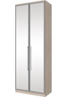 Guarda-Roupa 2 Portas 3 Gavetas Espelho Diamante M313-42 Bege - Henn