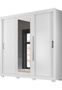 Guarda-Roupa Casal Com Espelho Montreal Plus 3 Pt 3 Gv Branco