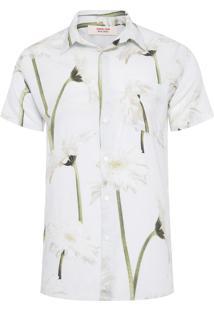 Camisa Masculina Gerbera - Off White