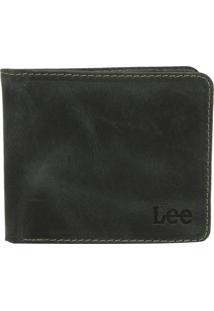 Carteira Couro Lee Logo Verde
