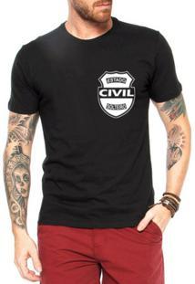 Camiseta Criativa Urbana Frases Estado Civil Solteiro - Masculino-Preto