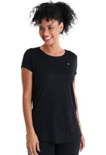 Camiseta Líquido Levíssima Energy Feminina - Feminino-Preto