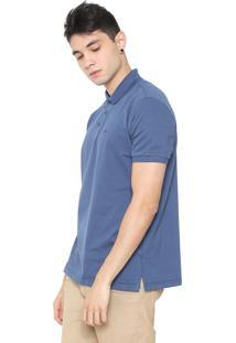 Camisa Polo Ellus Reta Poá Azul