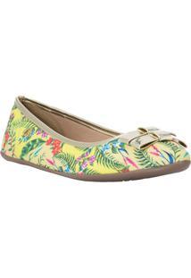 Sapatilha Floral Com Recortes- Amarela & Verdecarmen Steffens
