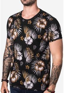 Camiseta Tropical Preta 102820
