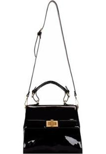 Bolsa Mormaii Top Handle Verniz - Feminino-Preto