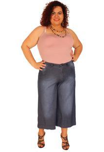 Calça Pantacurt True E-Motion Bruna Jeans Lavagem Stone Azul