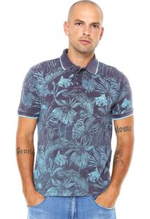 Camisa Polo John John Leaves Azul