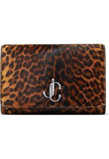 Jimmy Choo Clutch Varenne Com Estampa De Logo - Marrom