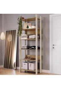 Closet 6 Prateleiras Cla1001 Off White/Itapua - Completa Móveis