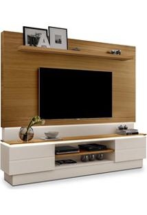 Estante Home Theater Para Tv Até 60 Pol. London Carvalho/Off White - M