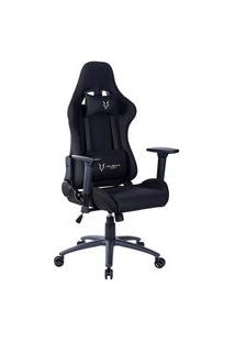 Cadeira Gamer Husky Gaming Racing, Preto, Com Almofadas, Reclinável, Descanso De Braço 3D - Hrc-Bla