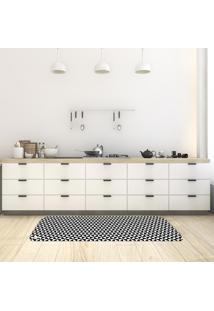 Tapete De Cozinha Mdecore Abstrato P&B 40X120Cm - Preto - Dafiti