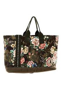 Bolsa Carioca Floral Camuflado - Est Floral Camuflado_Verde Camuflagem - U