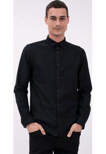 Camisa Manga Longa Maquinetada