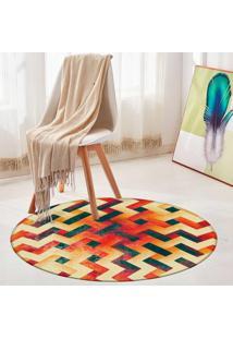 Tapete Redondo Wevans Geométrico Color 84Cm