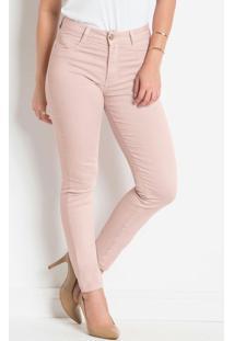 Calça Em Sarja Sawary Modelo Hot Pants Rosê