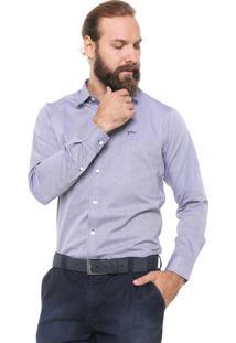 Camisa Yachtsman Reta Básica Azul