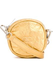 Courrèges Bolsa Transversal Mini - Dourado