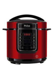 Panela De Pressão Digital Philco 6L Inox Vermelha 127V