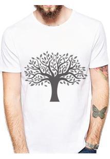 Camiseta Árvore Coolest Masculina - Masculino-Branco