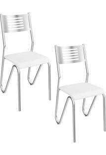 Kit 2 Cadeiras Nápoles Branca - Kappesberg