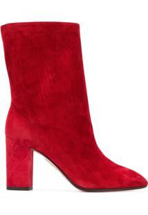 Aquazzura Ankle Boot 'Boogie' De Couro - Vermelho
