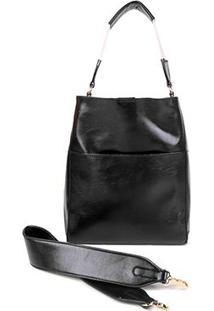 Bolsa Ld Tote Bag Lisa Feminina - Feminino-Preto