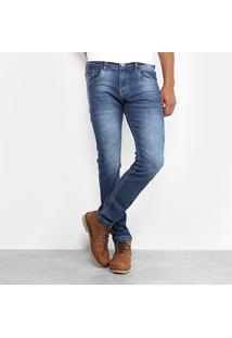 Calça Jeans Skinny Rock & Soda Estonada Masculina - Masculino