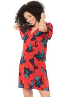 Vestido Cantão Curto Botanique Vermelho
