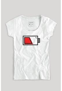 Camiseta Pilha Mãe Fem Reserva Masculina - Masculino-Branco