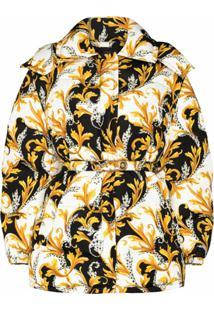 Versace Jaqueta Matelassê Com Estampa Barroca - Estampado
