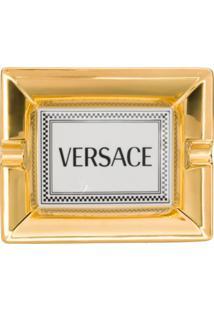 Versace Home Bandeja Com Estampa De Logo - Branco