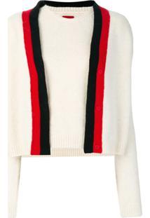 Moncler Blusa 2 Peças De Tricot - Branco