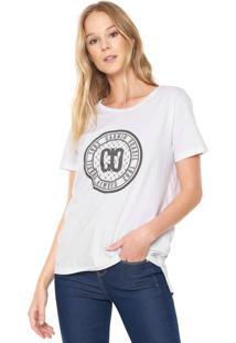Camiseta Carmim Estampada Branca