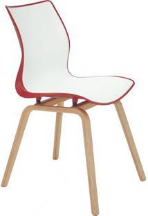 Cadeira Maja- Branca & Vermelho Escuro- 84,5X59,5X46Tramontina