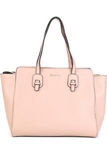 Bolsa Dumond Shopper Soft Relax Grande Feminina - Feminino-Areia