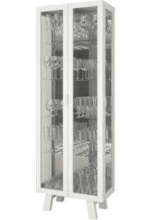 Cristaleira 2 Portas De Vidro Branca Cr6000 Tecno Mobili
