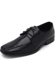 Sapato Broken Rules Textura Preto