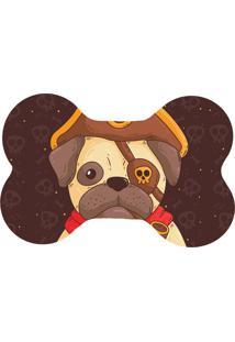 Tapete Wevans Pet Pug Pirata Marrom