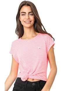 Camiseta Coca-Cola Jeans Listrada Rosa - Rosa - Feminino - Poliã©Ster - Dafiti