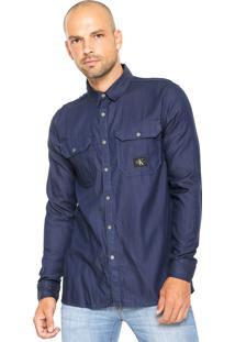 Camisa Calvin Klein Jeans Azul