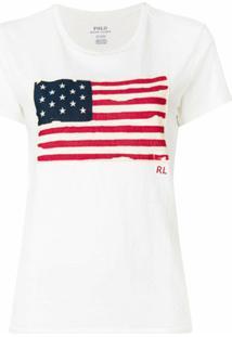 Polo Ralph Lauren Camiseta Com Estampa 'American Flag' - Neutro
