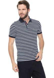 Camisa Polo Tommy Hilfiger Reta Murray Azul-Marinho