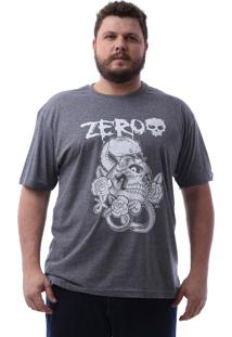 Camiseta Zero Poisonous Snake Plus Size Cinza Escuro