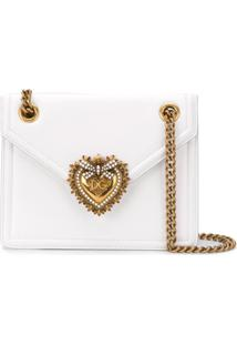 Dolce & Gabbana Bolsa Tiracolo Devotion De Couro - Branco