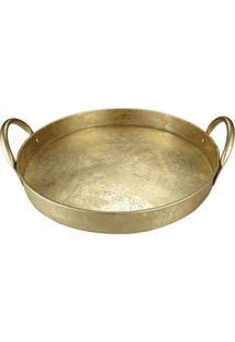Bandeja Portugal Dourado 36 Cm