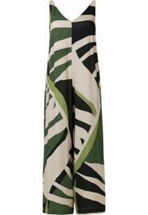 Osklen Macacão Tropi Green - Estampado