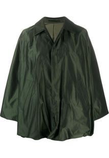 Comme Des Garçons Noir Kei Ninomiya Jaqueta Oversized Com Abotoamento Simples - Verde